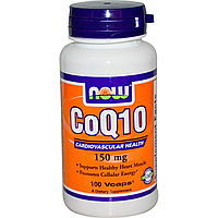 Коэнзим Q10, 150 мг, 100 капсул.  Now Foods