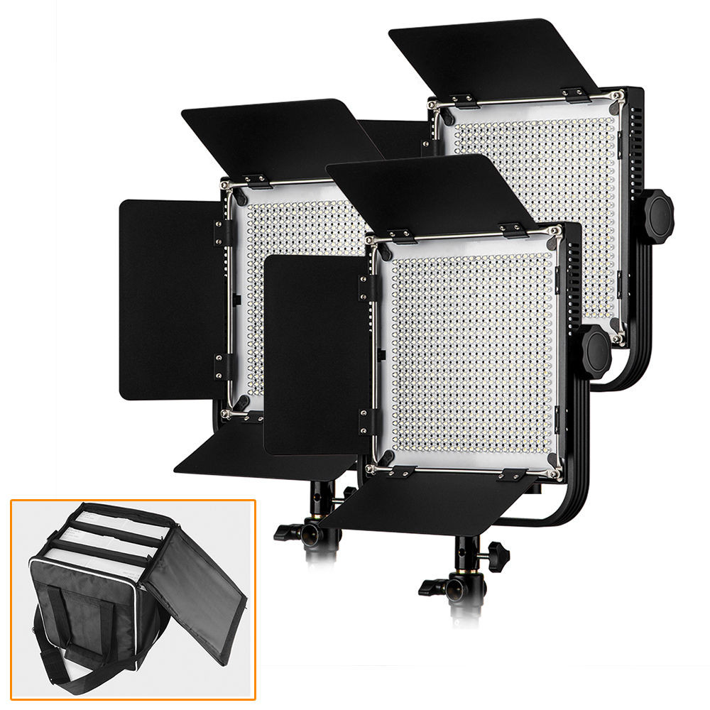 Светодиодная (LED) панель для фото / видео Pergear LED 576 (3 осветителя)