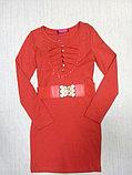 Коктейльное платье с длинным рукавом , фото 2