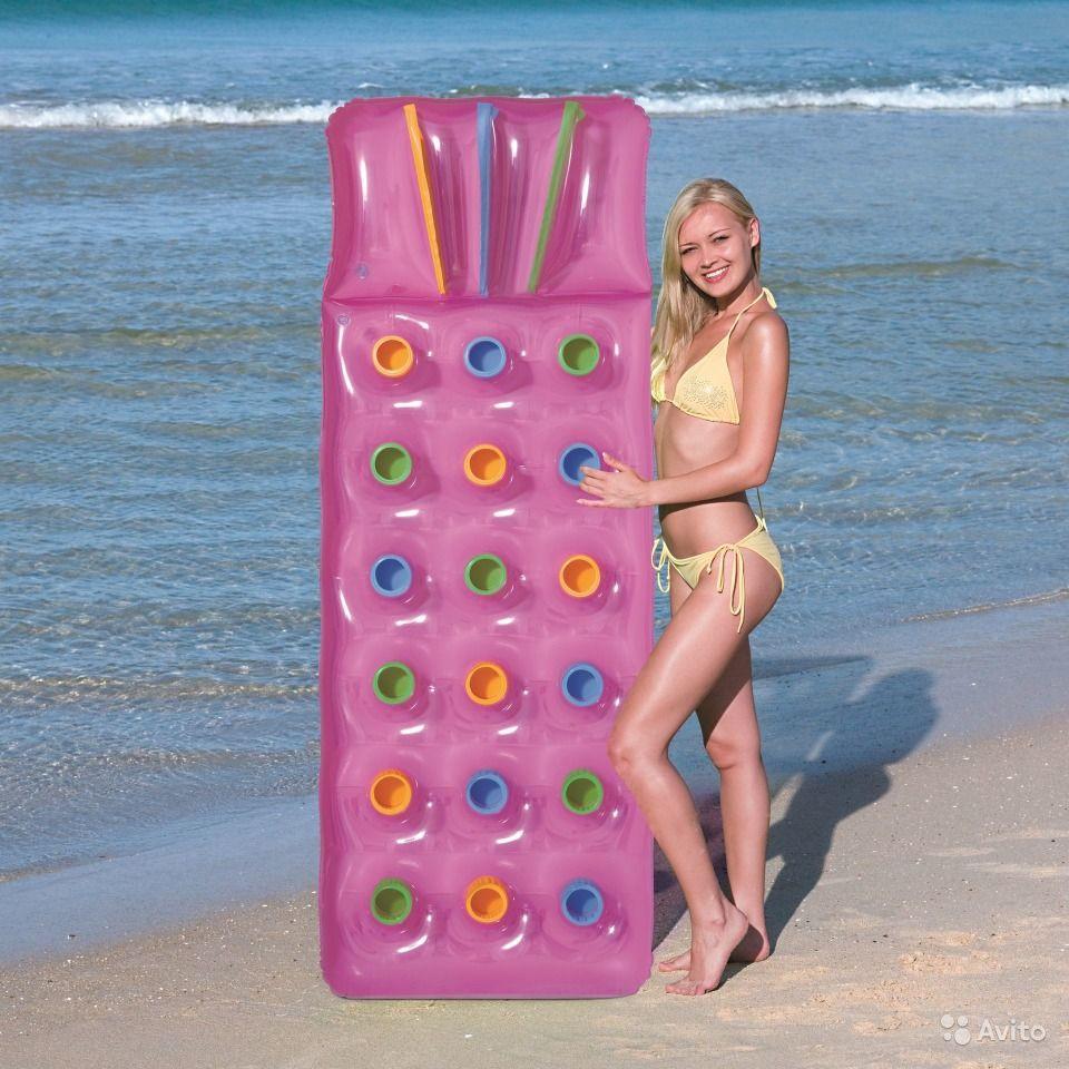 Пляжный надувной матрас Bestway 43014 (розовый) - фото 3