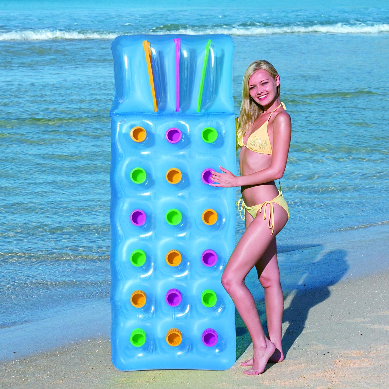 Пляжный надувной матрас Bestway 43014 (голубой) - фото 2