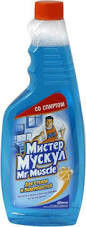 """Очиститель стекла """"Мистер Мускул"""" 500 мл (запаска)"""
