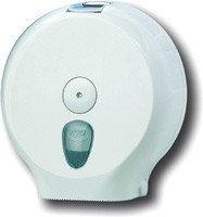 Белый диспенсер для рулонной туалетной бумаги