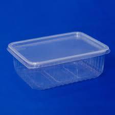 Контейнер с крышкой одноразовый пластиковый 1000 мл (139*102)