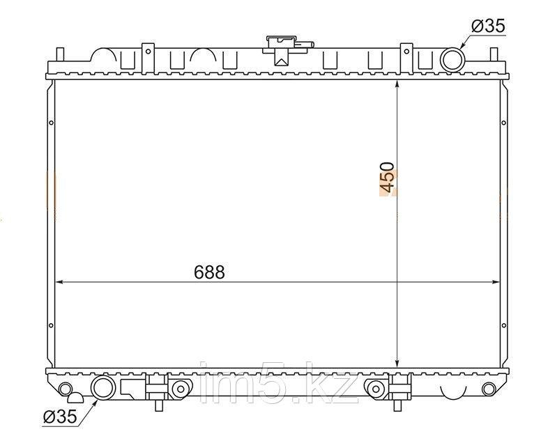 Радиатор  NISSAN SERENA C24 99-05