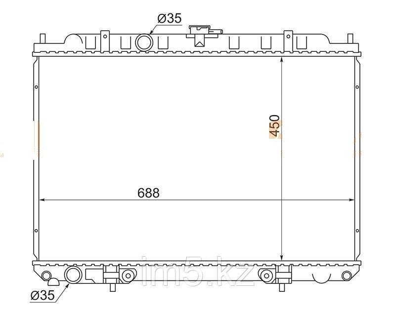 Радиатор  NISSAN PRESAGE U30 98-03