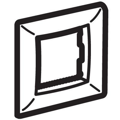 Рамка на 2 модуля (одноместная), малиновая, RAL3027