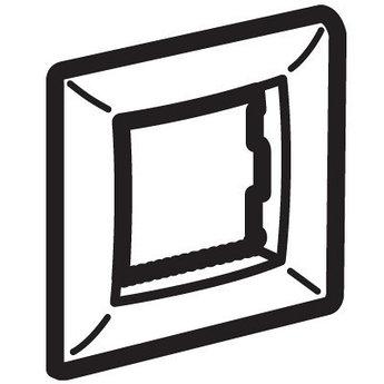 Рамка на 2 модуля (одноместная), коричневая