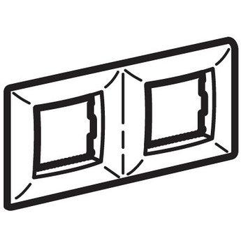 Рамка на 2+2модуля (двухместная), синяя, RAL5012
