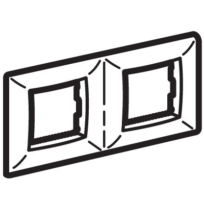 Рамка на 2+2 модуля (двухместная), песочная, RAL1002