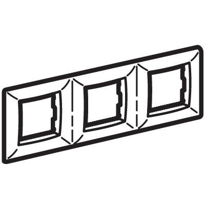 Рамка на 2+2+2модуля (трехместная), малиновая, RAL3027