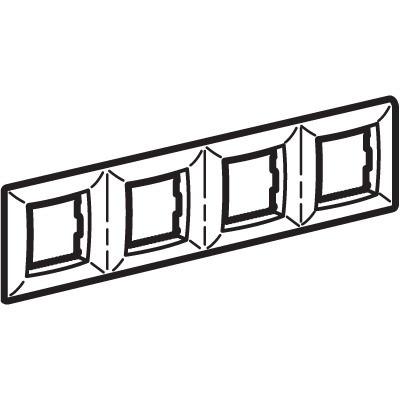 Рамка на 2+2+2+2 модуля (четырехместная), слоновая кость, RAL9001
