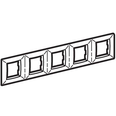 Рамка на 2+2+2+2+2 модуля (пятиместная), малиновая, RAL3027