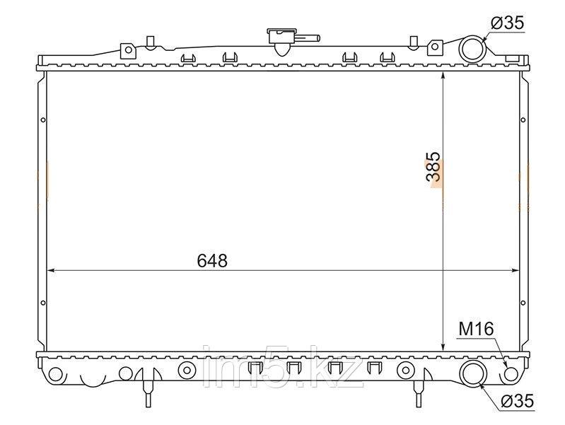 Радиатор NISSAN SKYLINE #R32 89-94