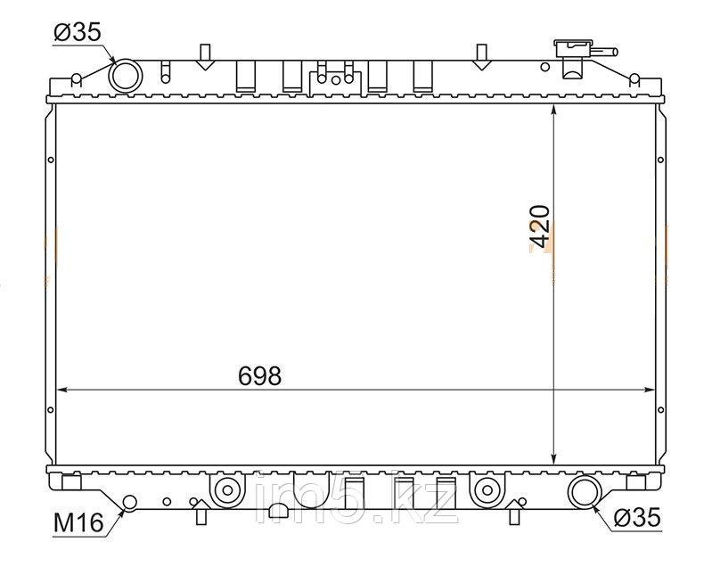 Радиатор NISSAN SERENA C23 91-99(дизель)