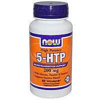Гриффония. 5-гидрокситриптофан, 200 мг, 60 вегетарианских капсул. Now Foods