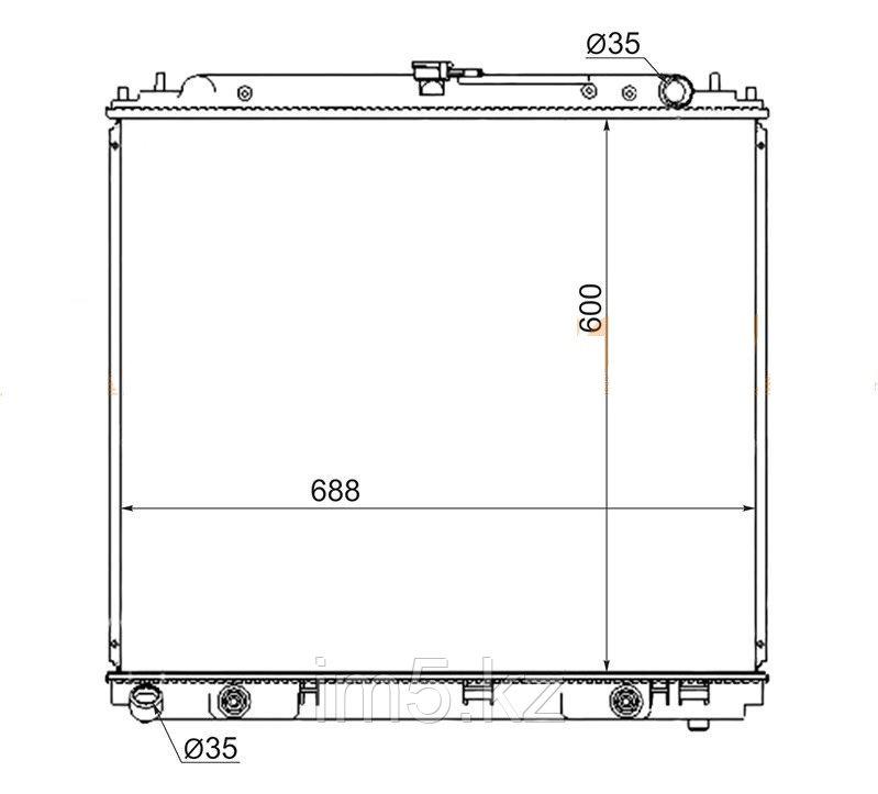 Радиатор NISSAN PATHFINDER R51 04-14