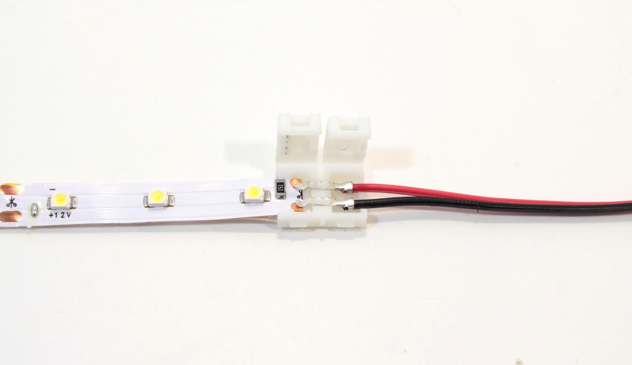 Двухсторонний коннектор для светодиодной ленты 3528 (8 мм)