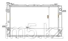 Радиатор  NISSAN PATROL/SAFARI Y60 87-97(дизель)