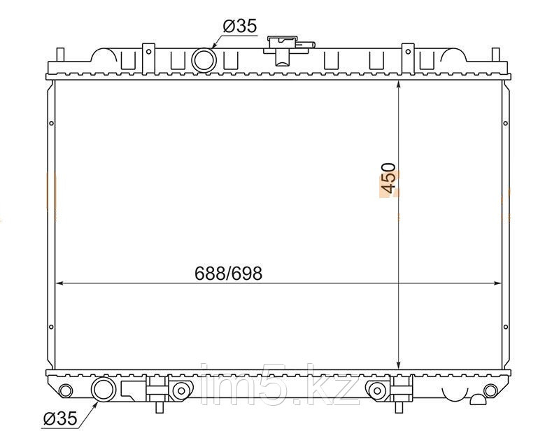 Радиатор  NISSAN X-TRAIL T30 00-07