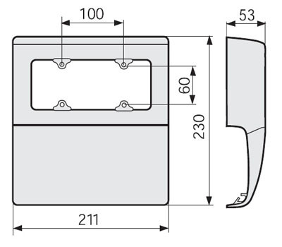 SBA6 W Коробка под розетку