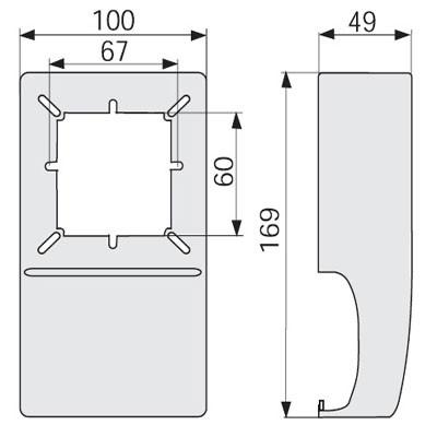 SQCN W Коробка под розетку п/р 60 мм плинтуса TCN