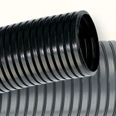Труба гофр. DN48мм, ПВ-2, Dвн 47,4 мм, Dнар 54,5 мм, полиамид 6, цвет чёрный, с протяжкой