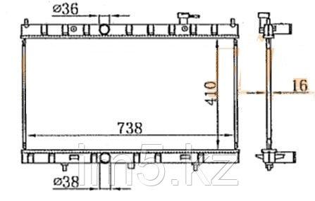 Радиатор  NISSAN X-TRAIL T32 14-