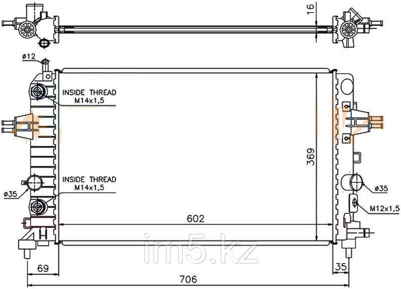 Радиатор   OPEL ZAFIRA B 05-10