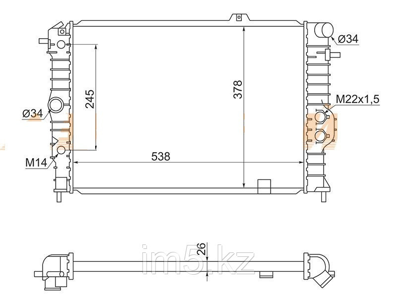 Радиатор   OPEL CALIBRA 90-