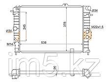 Радиатор   OPEL VECTRA A 88-95