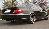 Спортивный выхлоп MEC Design на Mercedes Benz W220 S600, фото 1