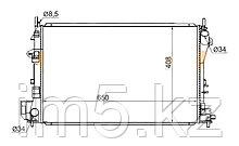 Радиатор   OPEL VECTRA C 02-08/SIGNUM 03-06