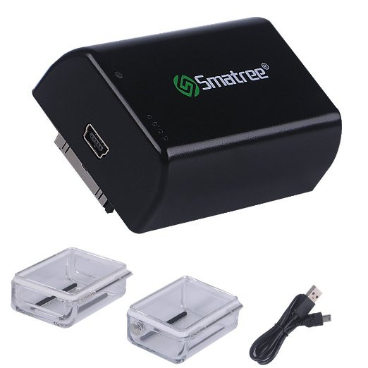 Smatree® Дополнительная (Bacpac) батарея  для GoPro HERO 4/3+/3 на 2500mAh