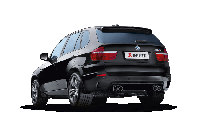 Титановая выхлопная система AKRAPOVIC на BMW E70 X5M