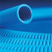 Труба ППЛ гибкая гофр. д.16мм, тяжёлая без протяжки, 100м, цвет синий
