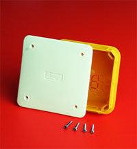 Коробка ответвительная прямоуг. для твердых стен, IP40, 92х92х45мм