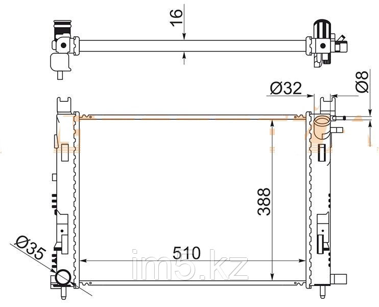 Радиатор  RENAULT SANDERO 14-