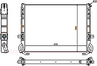 Радиатор  SCANIA 3 P /R /T-SERIES 89-95