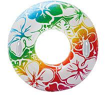 Надувной детский круг для плавания с ручками INTEX разноцветный (97 cm)
