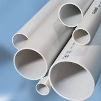 Труба ПВХ жёсткая атмосферостойкая д.40мм, лёгкая, 3м, цветсерый