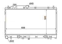 Радиатор SUBARU XV 12-