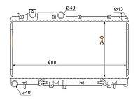 Радиатор SUBARU FORESTER SH5 08-13