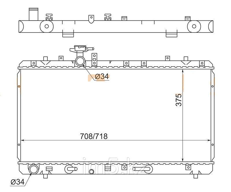 Радиатор SUZUKI SX4 06-