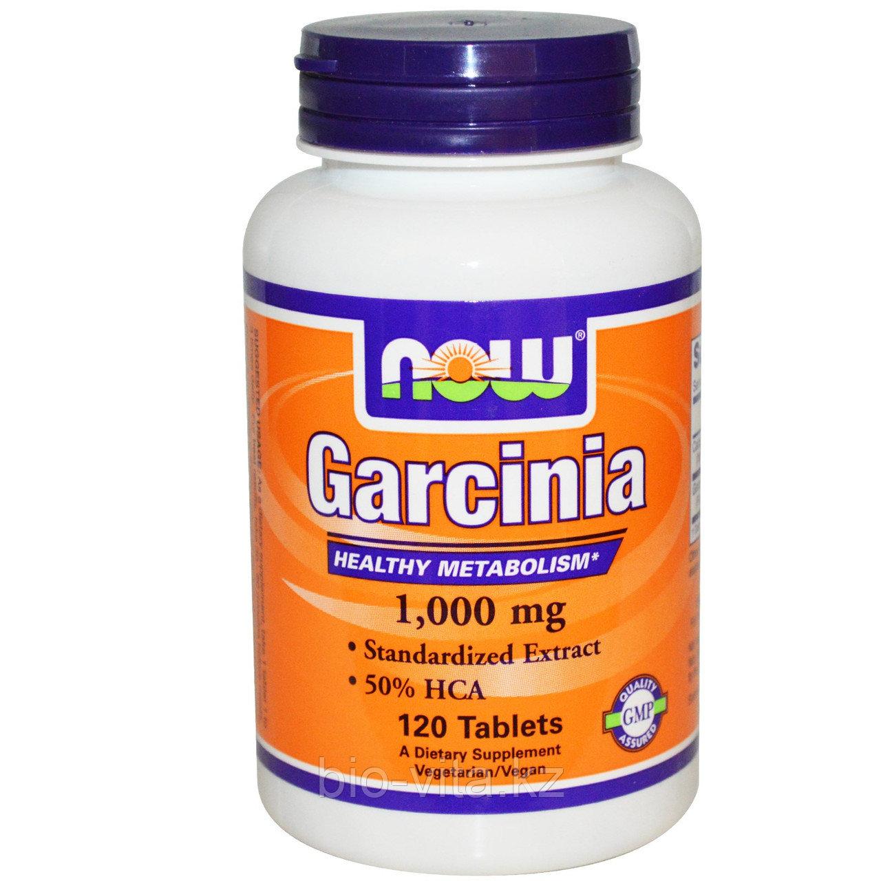 Гарциния, 1,000 мг, 120 таблеток. Now Foods