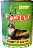 Clan Family 415г паштет из Курицы влажный корм для кошек