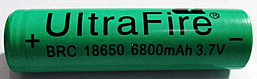 Аккумулятор 18650 6800mAh  UltraFire, 3,7в литий-ионный 1 шт