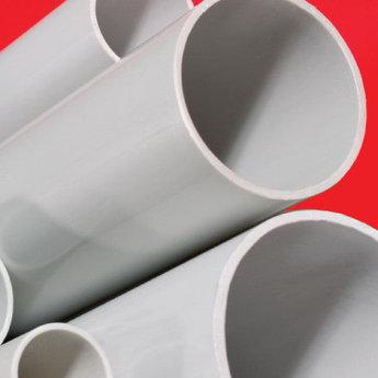 Труба ПВХ жёсткая гладкая д.63мм, лёгкая, 3м, цвет серый