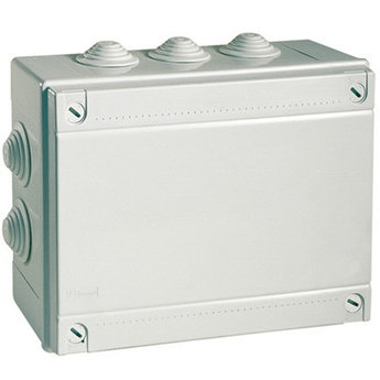 Коробка ответвит. с кабельными вводами, IP55, 120х80х50мм