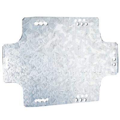 Монтажная пластина из оцинк. стали 206х164х1,5мм, для коробок 240х190мм